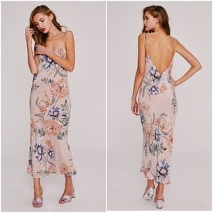 STONE COLD FOX MAGNOLIA SLINKY SLIP DRESS REFORMTN